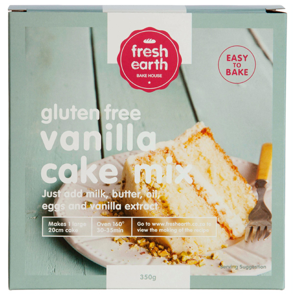 Fresh Earth Gluten Free Vanilla Cake Mix - 350g