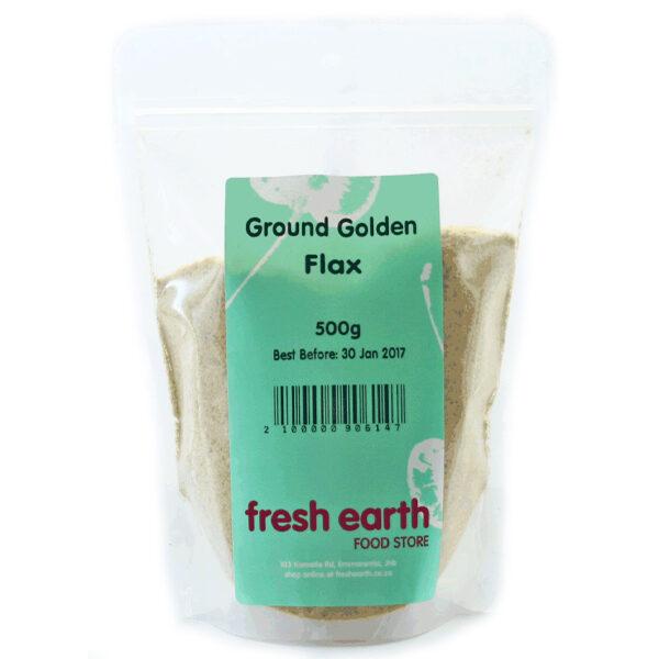 Fresh Earth Ground Golden Flax Seeds (500g)