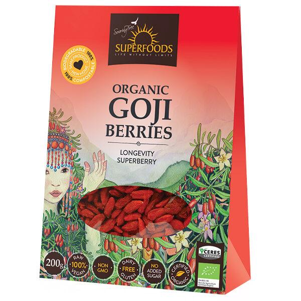 Soaring Free Organic Goji Berries (200g)