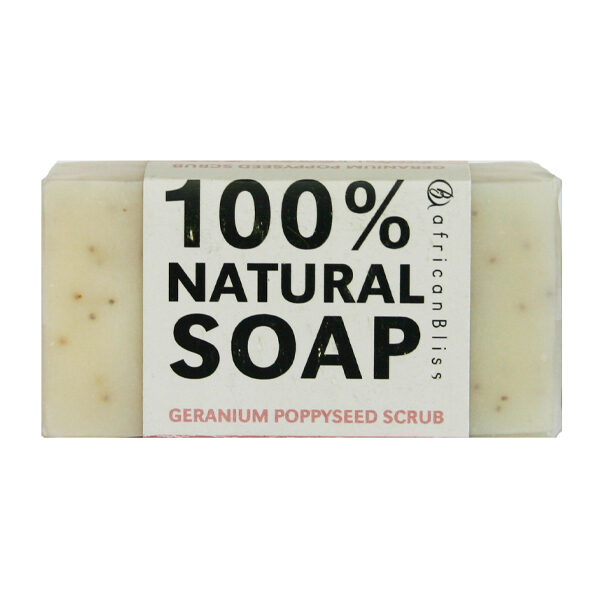 African Bliss Geranium & Poppyseed Soap