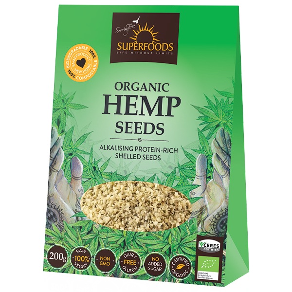 Soaring Free Hemp Seeds Shelled (200g)