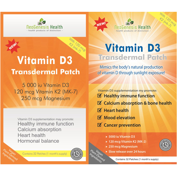 Vitamin D3 Patch 16's