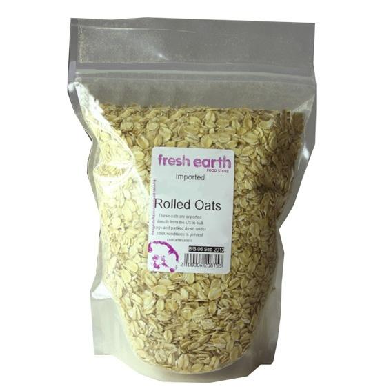 Fresh Earth Coarse Rolled Oats (1kg)-0