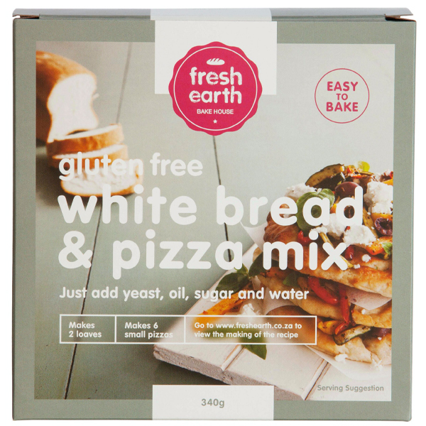 Fresh Earth Gluten Free White Bread & Pizza Mix - 340g