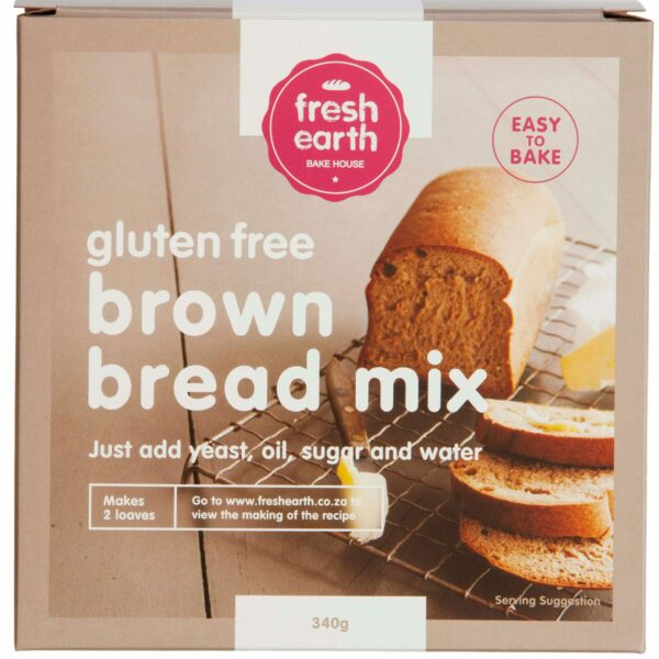 Fresh Earth Gluten Free Brown Bread Mix - 340g-0