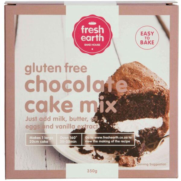 Fresh Earth Gluten Free Chocolate Cake Mix - 350g-0