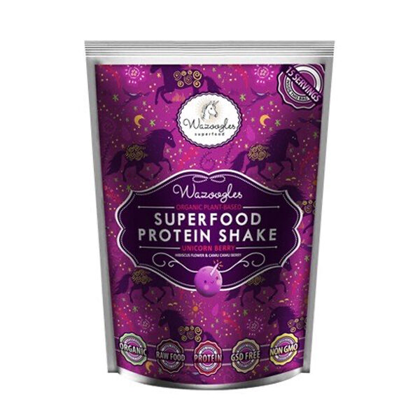 Wazoogles Unicorn Berry Protein Shake - 500g