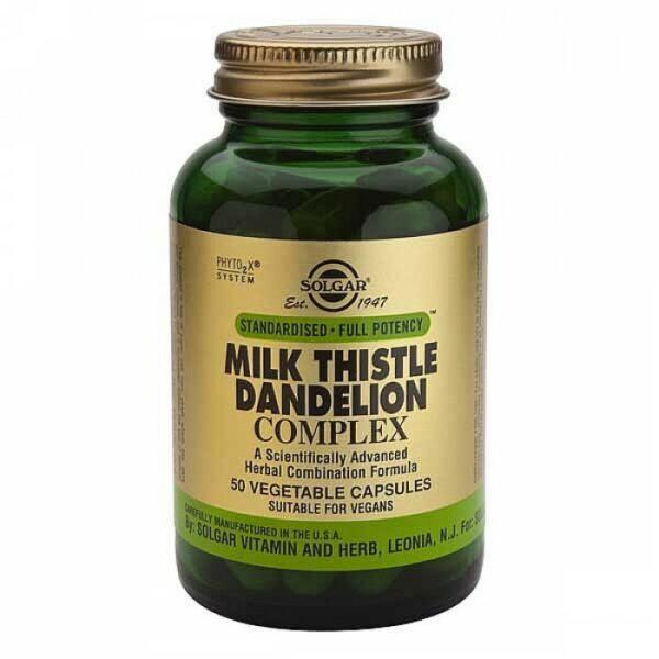 Solgar Milk Thistle & Dandelion Complex - 50's-0