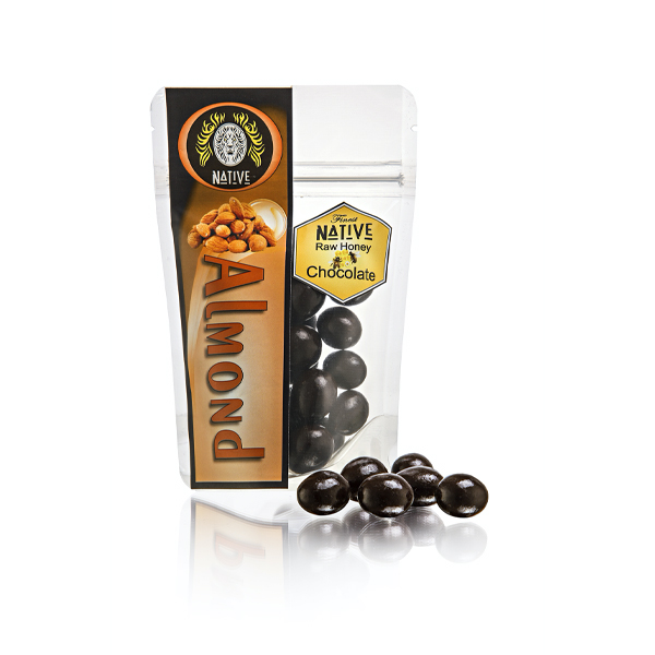 Native Raw Honey Choc Almonds - 100g