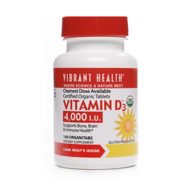 Vibrant Health Vitamin D3 4000 i.u. - 100's