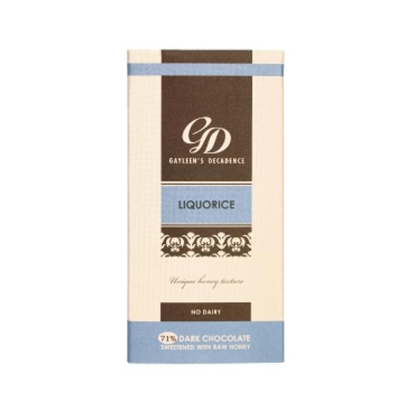 Gayleen's Decadence Liquorice Slab 75% - 100g