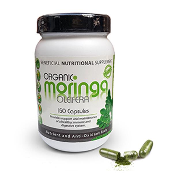 Oleifera Organic Moringa Capsules - 150's