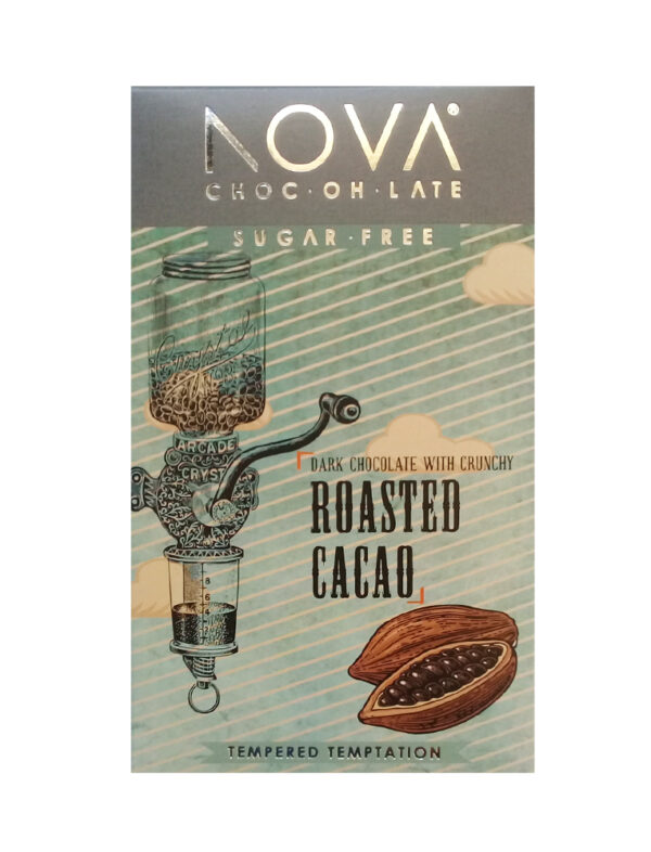 Nova Sugar Free Choc-oh-late 55% Crunchy Cacao - 100g-0