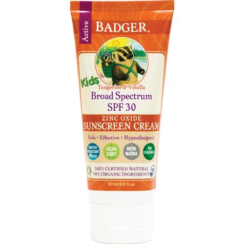 Badger Kids Sunscreen SPF 30 - 87ml-0
