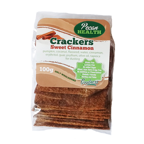 Pecan Health Sweet Cinnamon Crackers - 100g