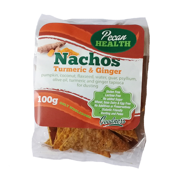 Pecan Health Turmeric & Ginger Nachos - 100g
