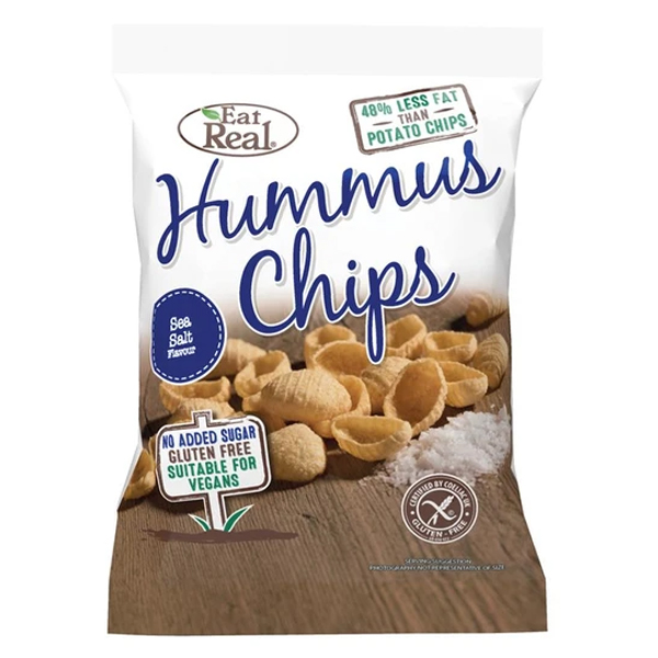 Eat Real Hummus Chips Seal Salt - 45g