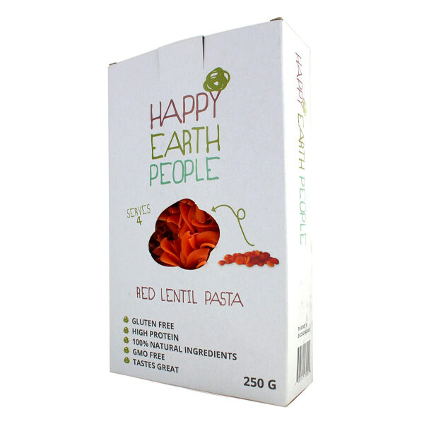 Happy Earth People Red Lentil Pasta - 250g