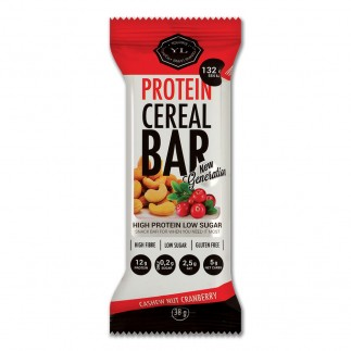 Youthful Living Protein Cereal Bar Cashew Nut Cranberry - 38g-0