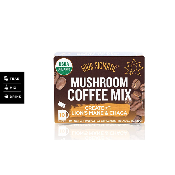 Four Sigmatic Mushroom Coffee Mix Lions Mane & Chaga - 10's