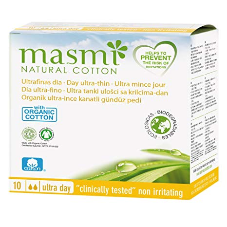 Masmi Natural Cotton Sanitary Pad Day - 10's-0