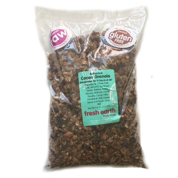 Fresh Earth Raw Cacao Granola - 1kg-0