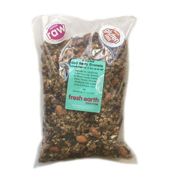 Fresh Earth Raw Goji Granola - 1kg-0