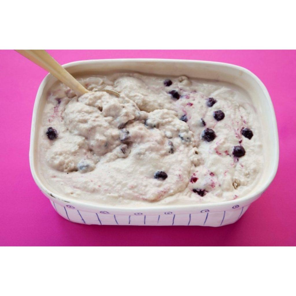 Blueberry and Chia Ice Cream