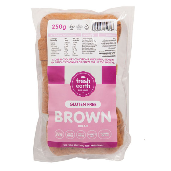 Fresh Earth Gluten Free Brown Bread